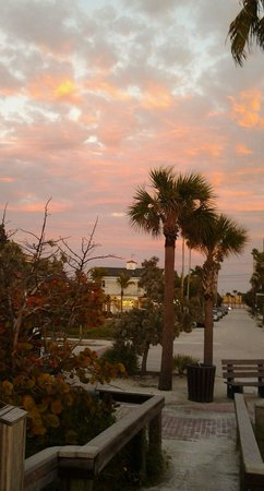 """Sunset at the Oasis"".... Coconut Inn at dusk"