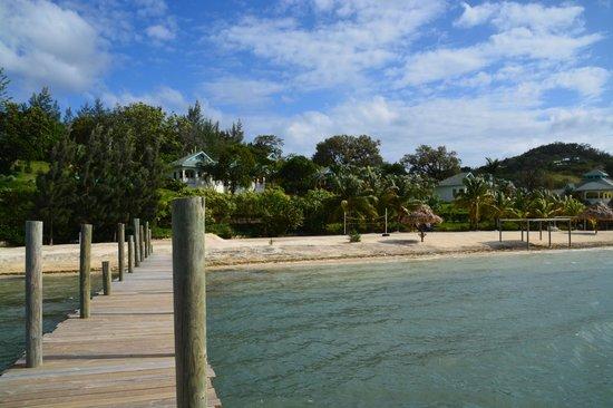 Turquoise Bay Dive & Beach Resort : Desde el muelle hacia el hotel