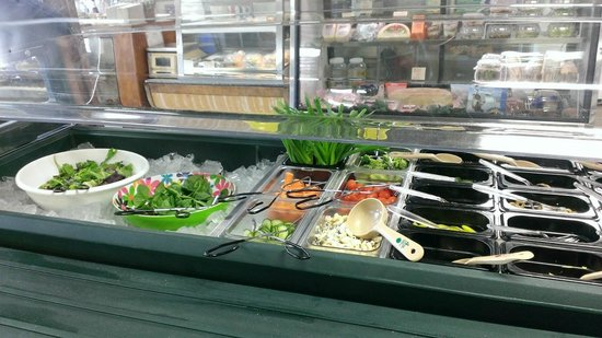 Stone Village Market : Fresh salad fixings and deli in background.  Very nice.