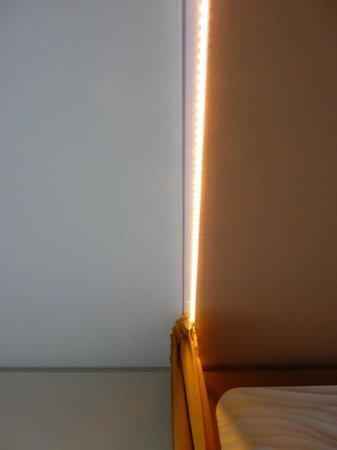 a-ja Warnemünde. Das Resort.: lights in the curtain rail