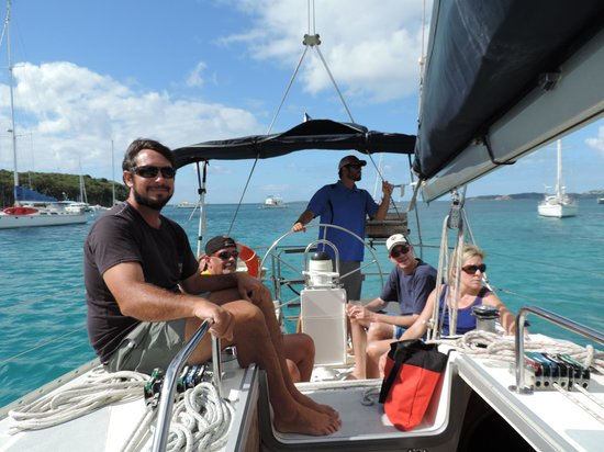 Rumbaba Charters: Captain Chad and RJ at the helm