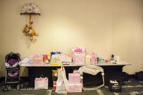Embassy Suites by Hilton Orlando Downtown: Ahsha Marie Baby Shower - gift table