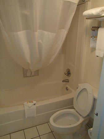 Quality Inn Outlet Mall: Clean bathroom