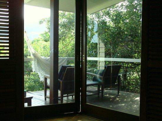 Lizard Island Resort: Looking out at the veranda.
