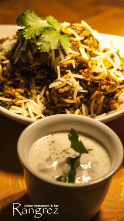 Rangrez: Lamb Biryani and Raita