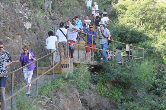 Diamond Head: Trail walkers