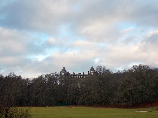 Black Spout Wood: View of the Atholl Palace Hotel from the Edradour Path