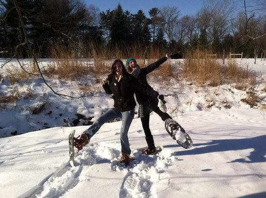 Cooksville Farmhouse Inn: Snowshoes!