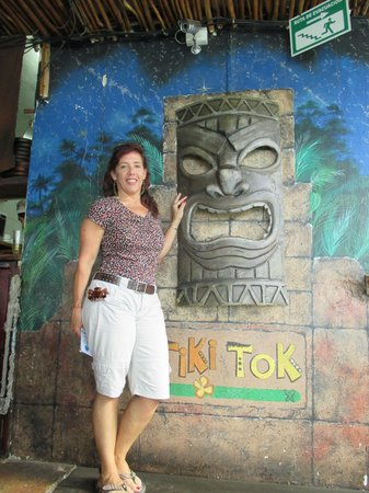 TIKI TOK BAR: The entrace to the Tiki Tok
