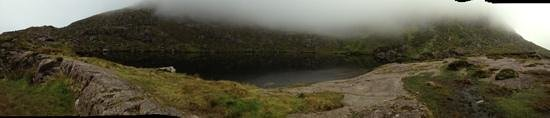 Conor Pass: The lake near the top of the mountain