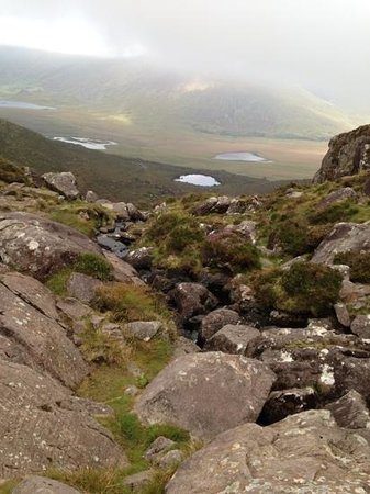 Conor Pass: Our view on the walk up the mountain