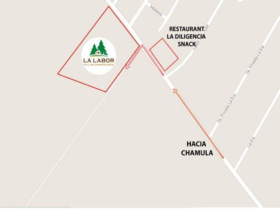 Villas y Temazcal La Labor: UBICACION A SOLO 10 MIN EN CARRO DEL CENTRO HISTORICO