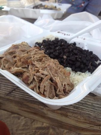 Cuban Coffee Queen : Pork, rice and beans