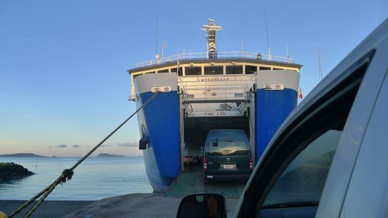 Vaisala Hotel: You have to take a car ferry to Savai'i