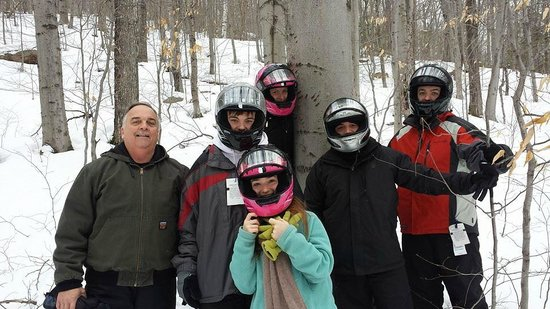 Northern Extremes Snowmobiling - Tours: Beach tree with bear scratches