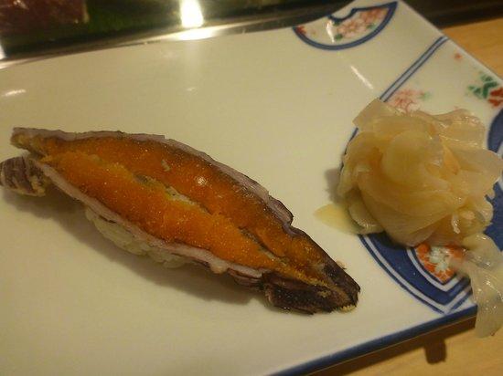 Fujizushi: NIGIRI with mantis shrimp