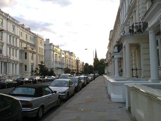 Notting Hill: calle del vecindario