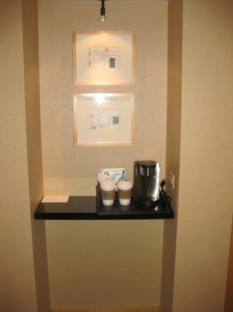 Coffee maker in room, Westin St. Louis, St. Louis, MO