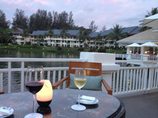 Outrigger Laguna Phuket Beach Resort: View across lagoon from club room