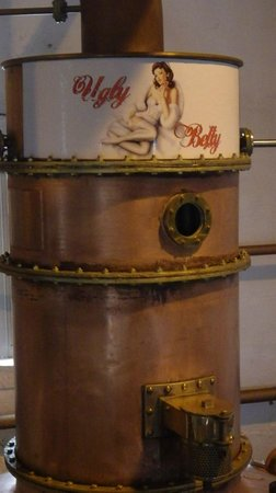 Bruichladdich Distillery: The Ugly Betty gin still ain't half bad looking.