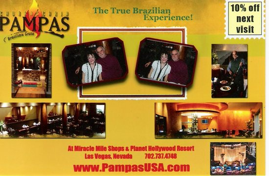 Pampas Brazilian Grille: Comp picture taken at Pampas Brazillian Grille