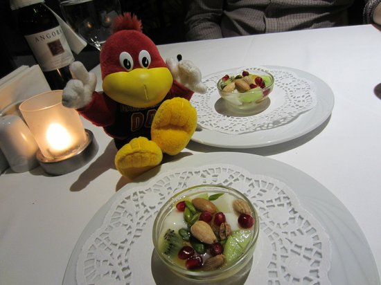 Matbah Ottoman Palace Cuisine : pudding with fresh fruit and nuts... BEST combination ever