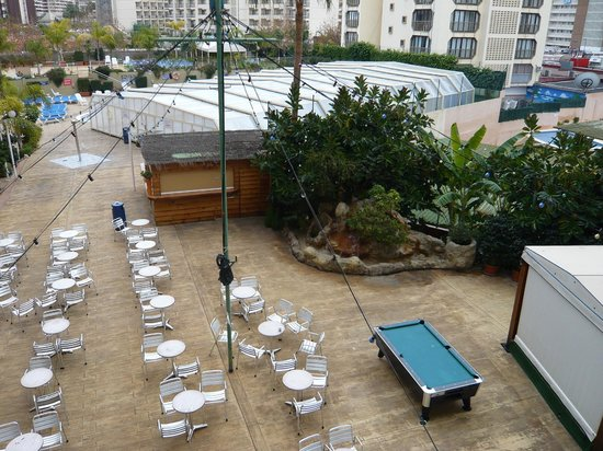 Presidente Hotel: View of covered pool from room