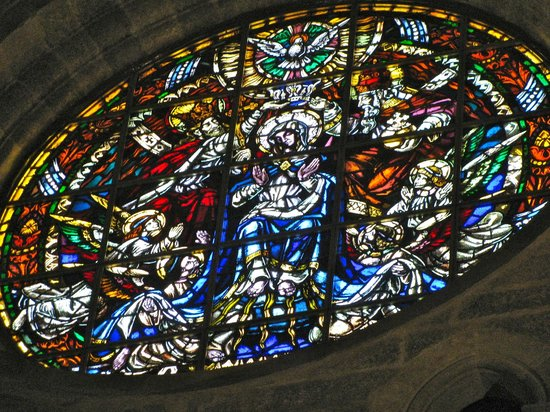Esglesia de Sant Feliu : stained glass window
