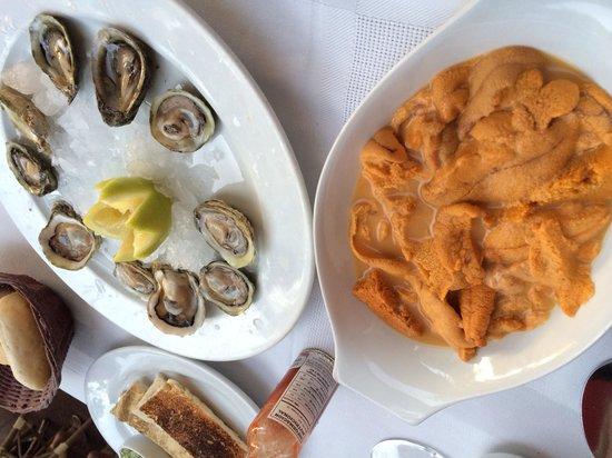 Miraolas: ウニと牡蠣