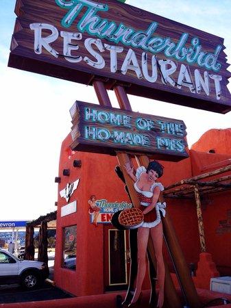 Thunderbird Restaurant: An enchanting sign.