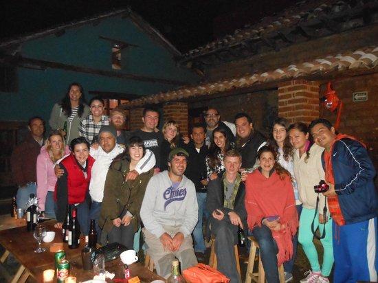 Puerta Vieja Hostel : Cena de año nuevo