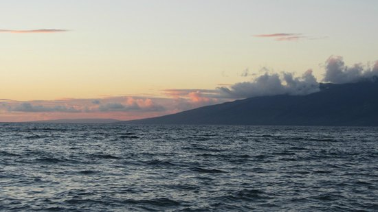 Sands of Kahana: Molokai from Sands beach