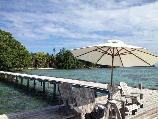 Tavanipupu Island Resort : Snorkeling jetty
