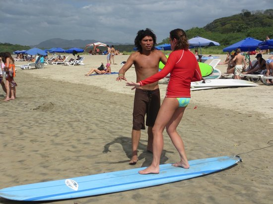 Iguana Surf: Getting my instructions from David before hitting the waves