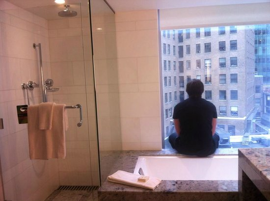 Fairmont Pacific Rim: Shower and view