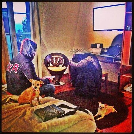 Sorell Hotel Speer: Relaxing in the room.