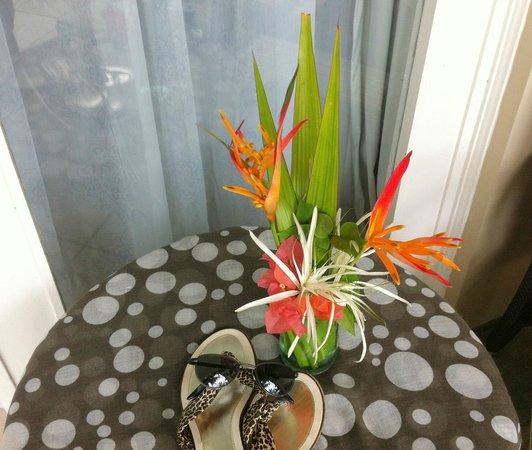 Sugar Beach Golf & Spa Resort : Kevin hat frische Blumen gepflückt