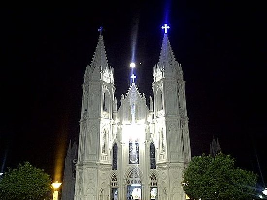 Church of our Lady of Velankanni : velankanni church in the night