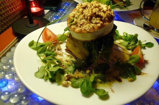Lehka Hlava: Grilled cheese on potato gratin