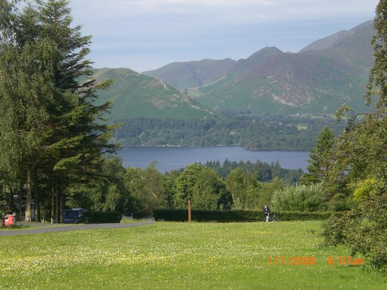 Castlerigg Hall Caravan and Camping Park: the view from our pitch