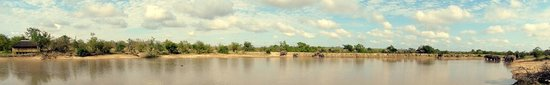 Timbavati Private Nature Reserve, Sudáfrica: view from Sleep-out hide