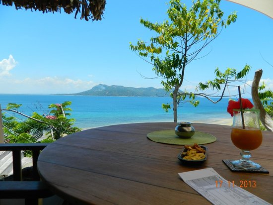 Tsara Komba Luxury Beach Forest Lodge: View whilst dining