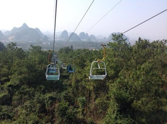 Guilin Yaoshan Mountain Scenic Resort: way up...