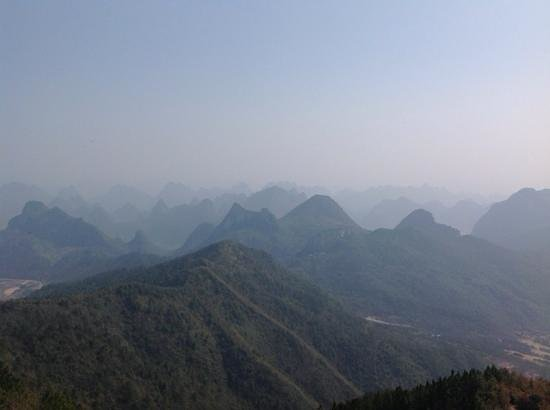 Guilin Yaoshan Mountain Scenic Resort: view from the top