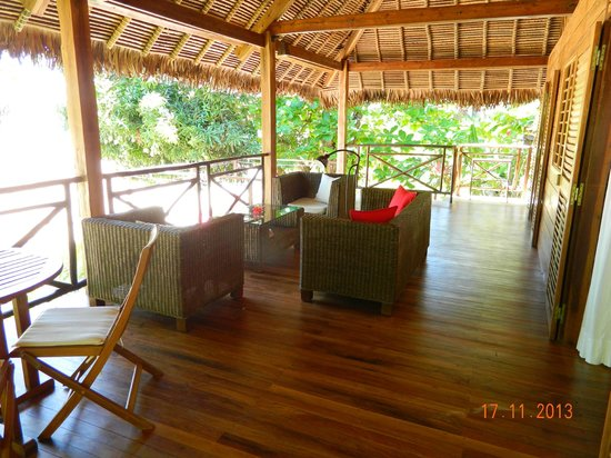Tsara Komba Luxury Beach Forest Lodge: Personal lounge area outside rooms