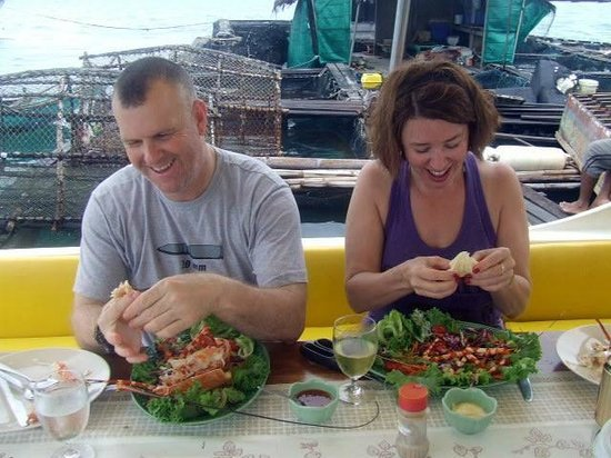 River Rovers: Yummy...fresh shell fish straight from the sea to our plates!
