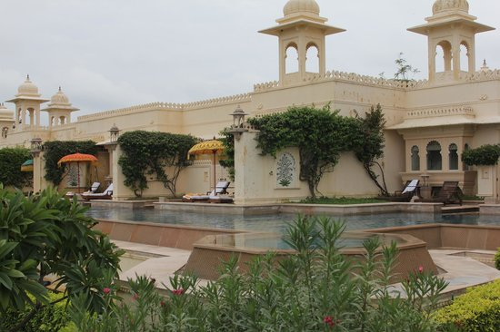 The Oberoi Udaivilas: rooms viewed from the semi private pool side
