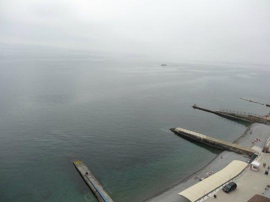 Livadiyskiy SPA & Hotel : Вид с крыши отеля, туманное утро