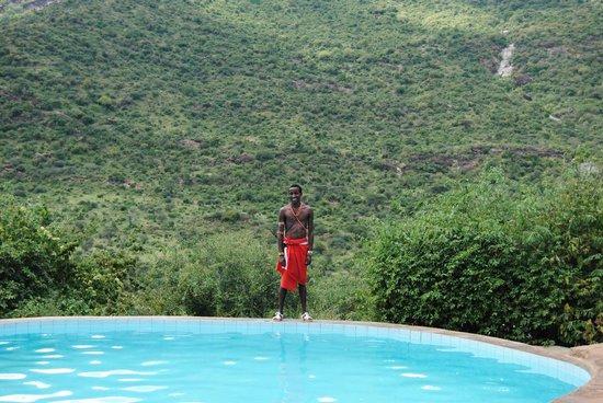 Il Ngwesi Lodge : The infinity pool.