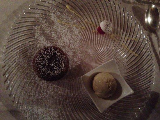 Cappuccini Resort: Tortino al cioccolato